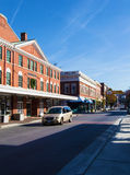 Vue de la région de secteur du marché à Roanoke, la Virginie, Etats-Unis Photos libres de droits
