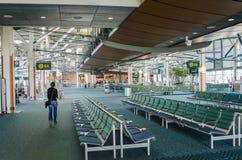 Vue de la région internationale de départ de l'aéroport international de Vancouver Photo stock