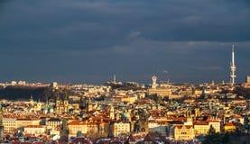 Vue de la République Centre-tchèque de ville de Praque Photo stock