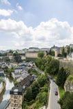 Vue de la rivière Alzette et Luxembourg photographie stock libre de droits