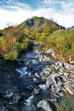 Vue de la rivière d'Alcantara en Sicile Photographie stock libre de droits