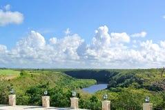 Vue de la rivière de Chavon Photo libre de droits