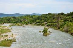 Vue de la rivière de Frio Photos libres de droits