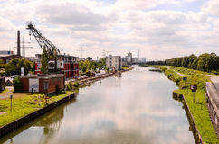 Vue de la rivière de Hamm Image stock