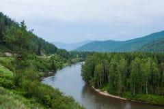 Vue de la rivière Katun Images libres de droits