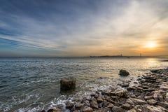 Vue de la rivière le Tage à Lisbonne Image libre de droits