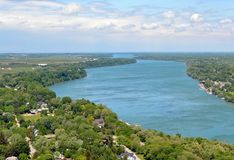 Vue de la rivière Niagara Photo libre de droits