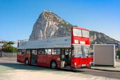 Vue de la roche au-dessus de Gibralt Images stock