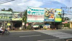 Vue de la rue dans Kalibo, Philippines Photographie stock