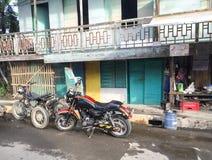 Vue de la rue dans Kalibo, Philippines Photo stock