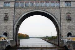 Vue de la serrure sur la Volga près d'Uglich images libres de droits