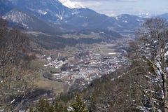 Vue de la station de sports d'hiver de Schladming, Autriche photo stock
