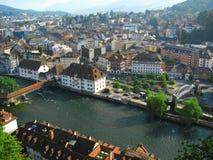 vue de la Suisse de lucerne de 2 antennes Images libres de droits