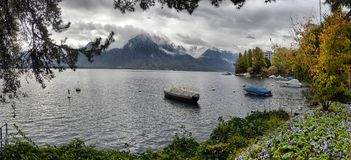 Vue de la Suisse Montreux du Lac Léman et des Alpes Image libre de droits
