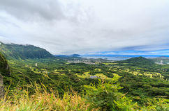 Vue de la surveillance de Nuuanu Pali Photographie stock libre de droits
