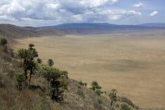 vue de la Tanzanie de ngorongoro de cratère Image libre de droits
