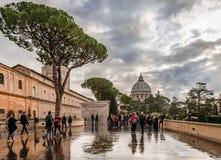 Vue de la terrasse du musée de Vatican image libre de droits