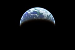 Vue de la terre illustration stock
