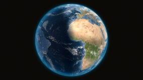 Vue de la terre de plan?te de l'espace illustration libre de droits