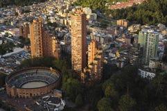 Vue de la tour de colpatria photographie stock libre de droits