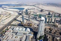 Vue de la tour 4 de khalifa de Burj Photographie stock libre de droits