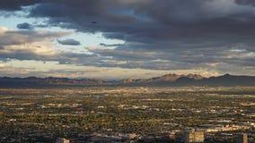 Vue de la tour de stratosphère à Las Vegas, Nevada Photographie stock