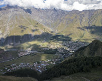 Vue de la vallée de montagne Images stock