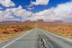 Vue de la vallée de monument, Etats-Unis Image libre de droits