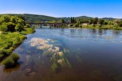 Vue de la vallée de Dordogne dans Périgord Photographie stock libre de droits