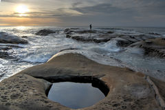 Vue de la vie marine à l'île de Semporna Photographie stock
