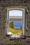 Vue de la vieille fenêtre Photo libre de droits