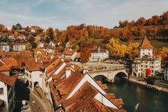 Vue de la vieille ville de Berne Photos stock
