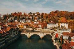 Vue de la vieille ville de Berne Image stock