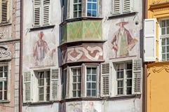 Vue de la vieille ville de Bozen en Italie Image stock