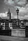 Vue de la vieille ville de Zurich Photographie stock libre de droits