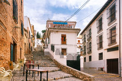 Vue de la vieille ville, Grenade, Andalousie, Espagne Image libre de droits