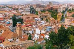 Vue de la vieille ville, Grenade, Andalousie, Espagne Images stock