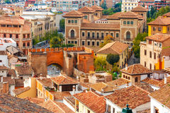 Vue de la vieille ville, Grenade, Andalousie, Espagne Photos stock