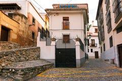 Vue de la vieille ville, Grenade, Andalousie, Espagne Photographie stock libre de droits