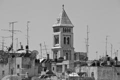 Vue de la vieille ville de Jérusalem Image libre de droits