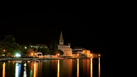 Vue de la vieille ville de Porec en Croatie photos stock
