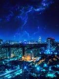 Vue de la ville Photo libre de droits