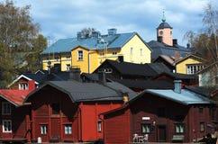 Vue de la ville antique Porvoo, Finlande Photo stock