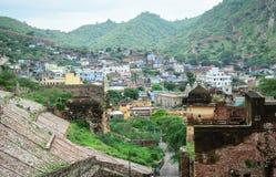 Vue de la ville de Jaipur, d'Amer Fort Photographie stock