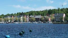Vue de la ville de l'eau Image stock