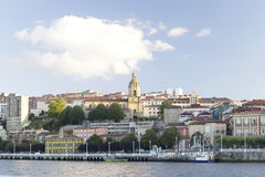 Vue de la ville de Portugalete Photos libres de droits