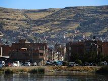 Vue de la ville de Puno, Pérou photos libres de droits