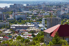 Vue de la ville de Saratov de montagne de Sokolov Images stock
