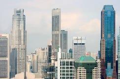 Vue de la ville de Singapour du Skybridge Photos libres de droits