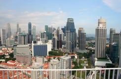 Vue de la ville de Singapour du Skybridge Photo stock